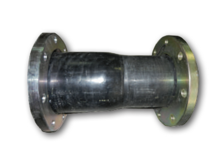 reducer with flared ends and flanges